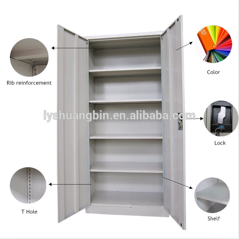 Full Height Stainless Steel 2 Door Office Metal File