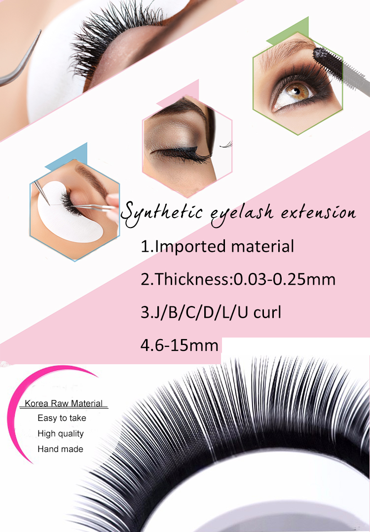 Wholesale Synthetic Individual Eyelash Extensions Silk Eyelash Mink