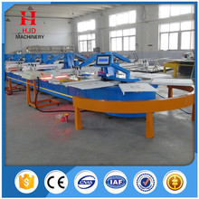 Full Automatic Rotary Oval Screen Printing Machine 16 Colors for Tshirt
