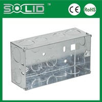 5''x3''x1''mm with no cover galvanized double gang metal box