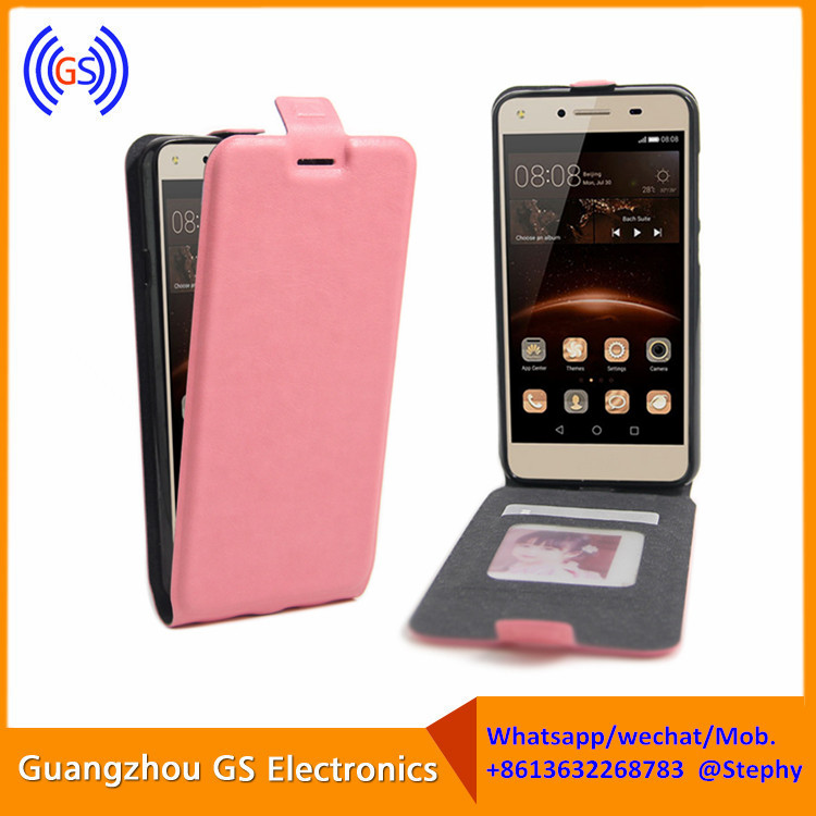 Vertical Flip Cover For y5 ii, For Y5 ii Leather Case Cover Flip
