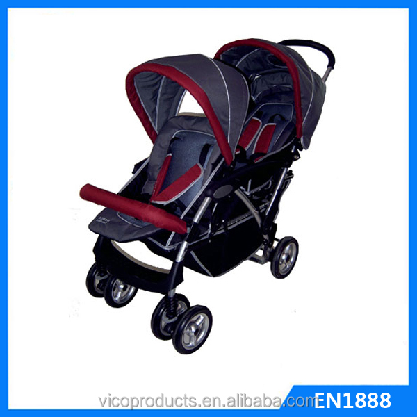 New standard comfortable baby design stroller twin