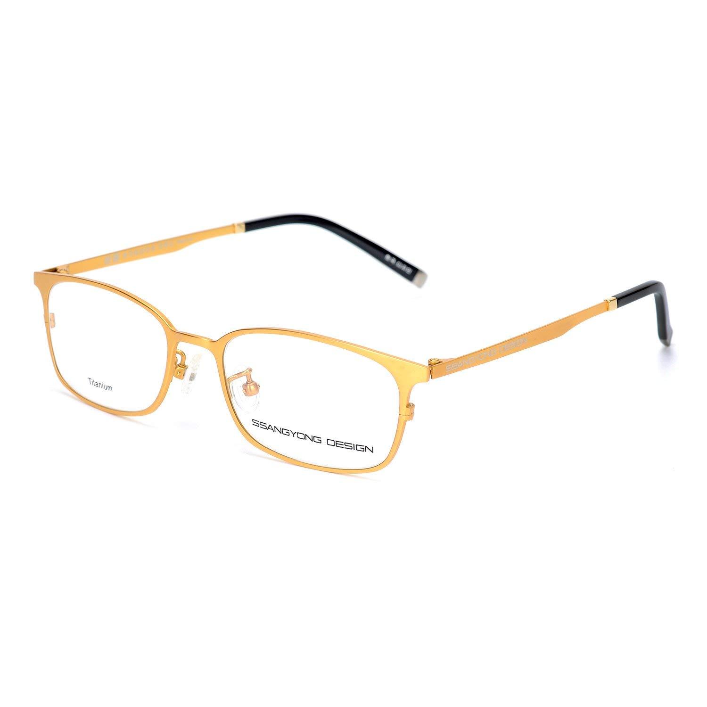 e986d1b8005 Get Quotations · Eileen Elisa Oval Retro Titanium Glasses Frame with Prescription  Eyeglasses