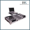 2015 rack case for pioneer cdj 2000 with wheels and laptop, DJ cable case ata flight case
