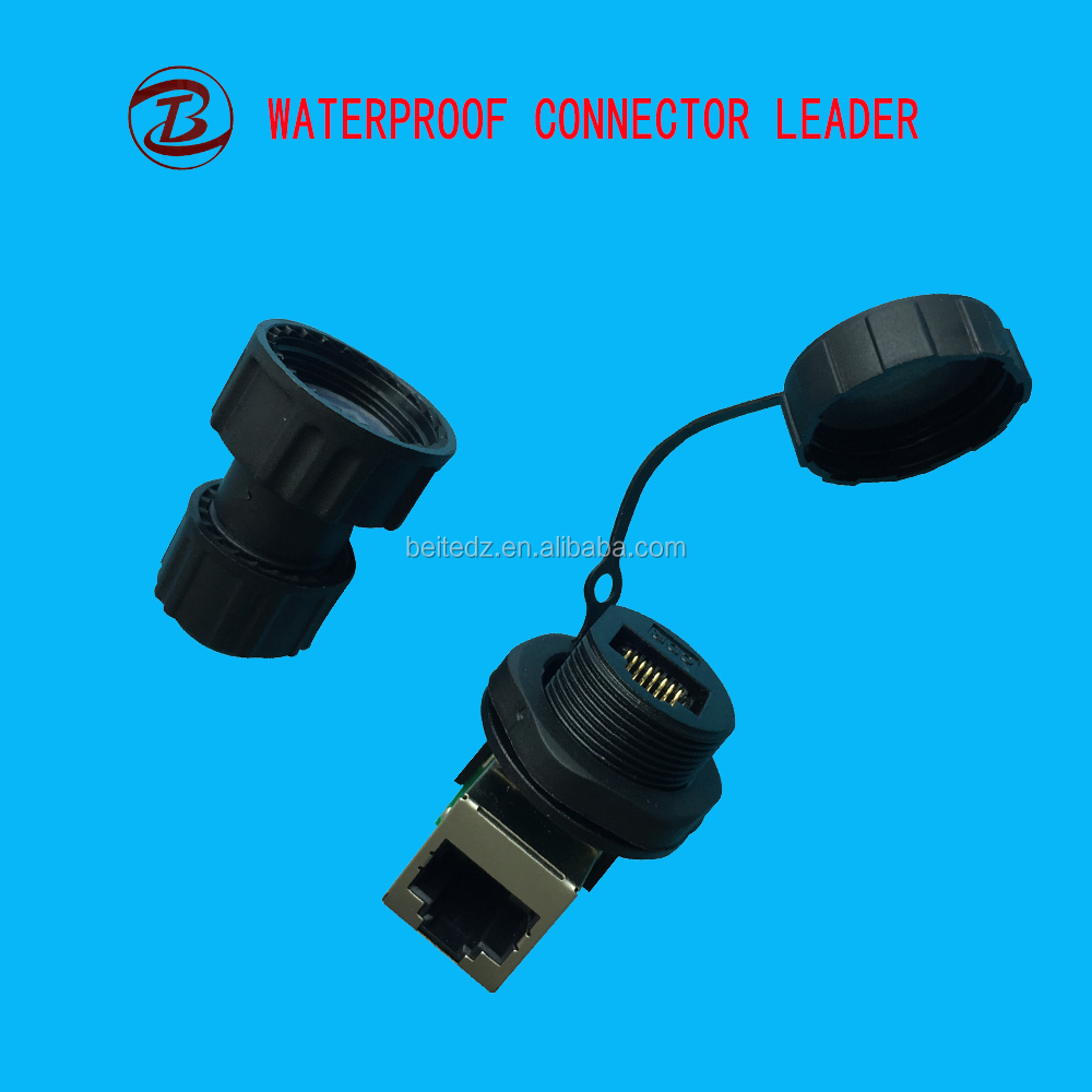 2pin Waterproof IP68 rj45 male to female connector