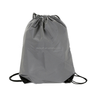 plastic drawstring bags wholesale custom reflective cloth material polyester drawstring bags