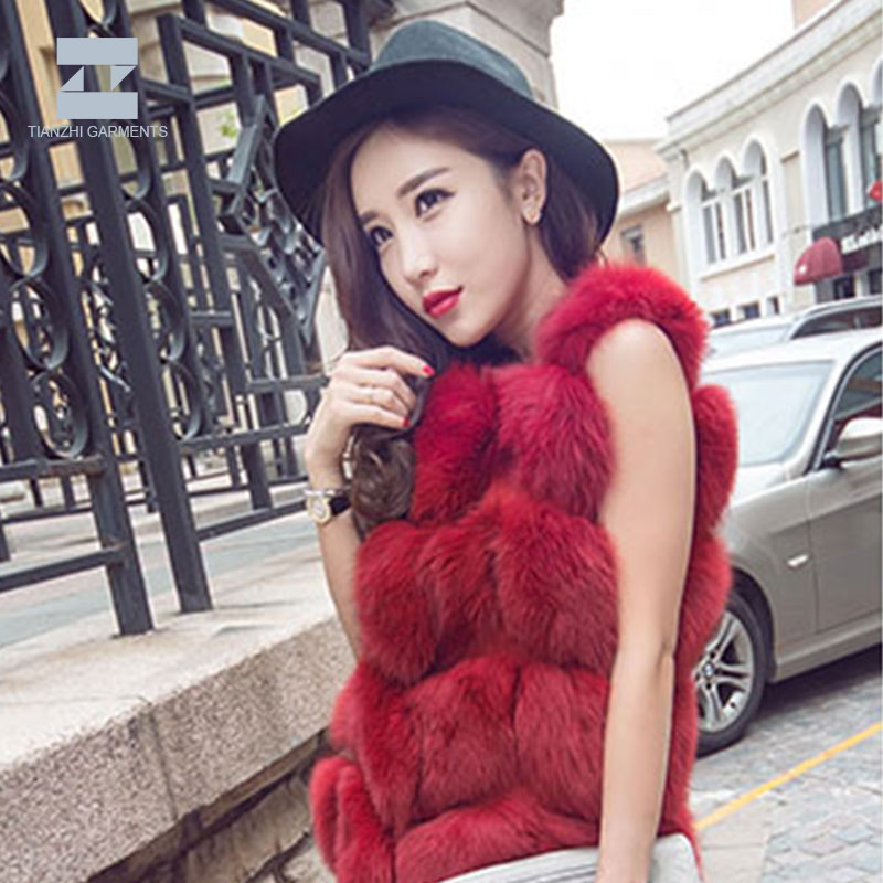 Korean style women colored plus size anti-wrinkle faux fur coat