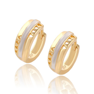 90699 Xuping wholesale modern multi color gold designs fancy hoops earring