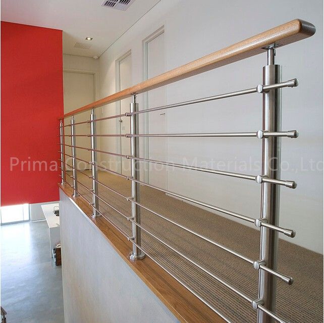 Lovely Stainless Steel Stair Railings For Prefabricated Staircase / High Quality  316s.s Rod Baluster Stairs