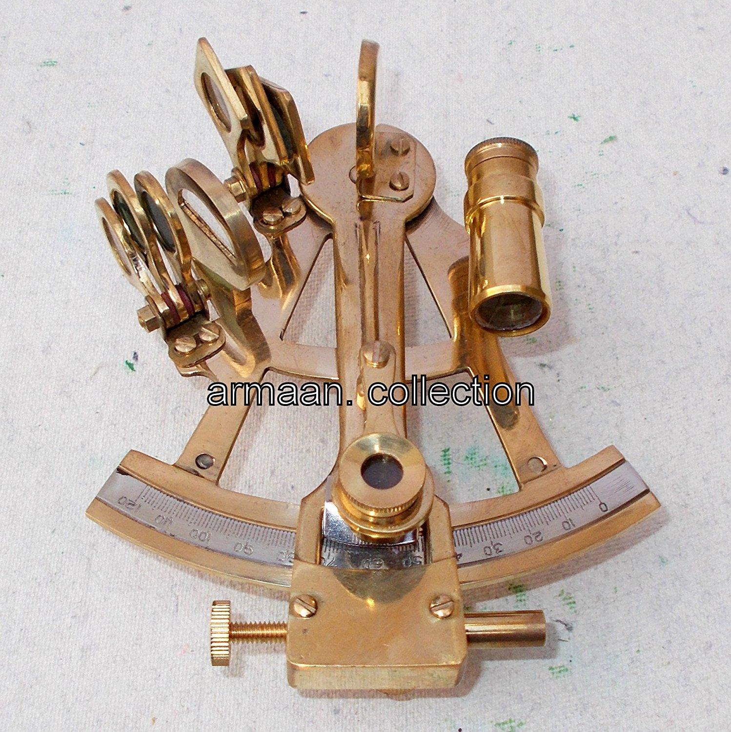 VINTAGE BRASS MARINE SEXTANT ASTROLABE ANTIQUE MARITIME NAUTICAL SHIP SEXTANT