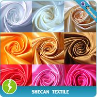 100% Polyester wedding decoration satin fabric