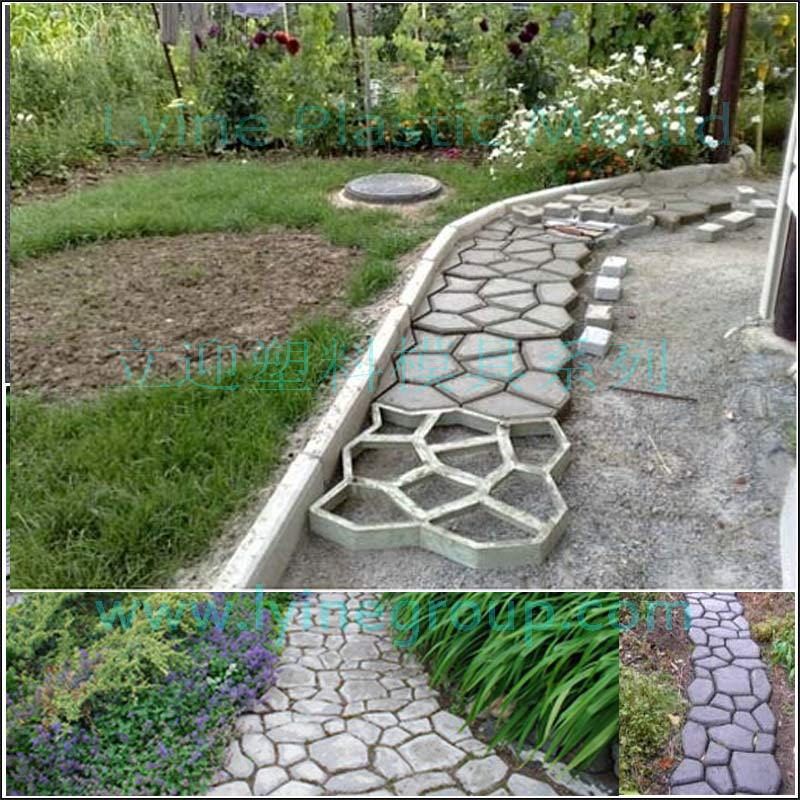 Garden DIY Driveway Paving Brick Stone Mold Slabs Path Walk Maker Mould Pavement