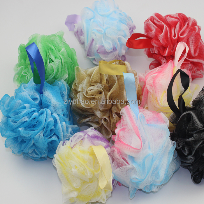 China printed bath sponge net,kids bath sponges