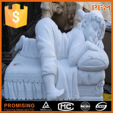 wholesale well polished beautiful nude child and male marble sculpture