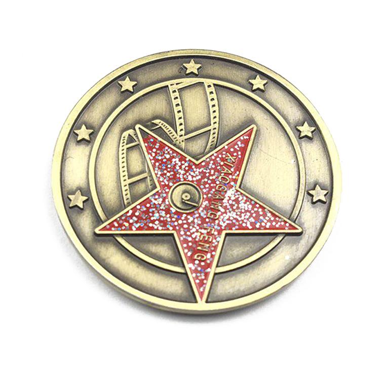 Fornecedores China Logotipo Personalizado Esmalte Macio Ouro Moedas Souvenir de Metal Moeda do Desafio