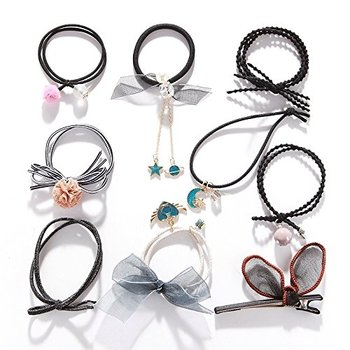 Black vogue ball style hair band for girls