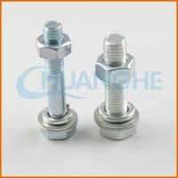 High Tensile Fastener nut and bolt, u type anchor bolts with nuts and washers