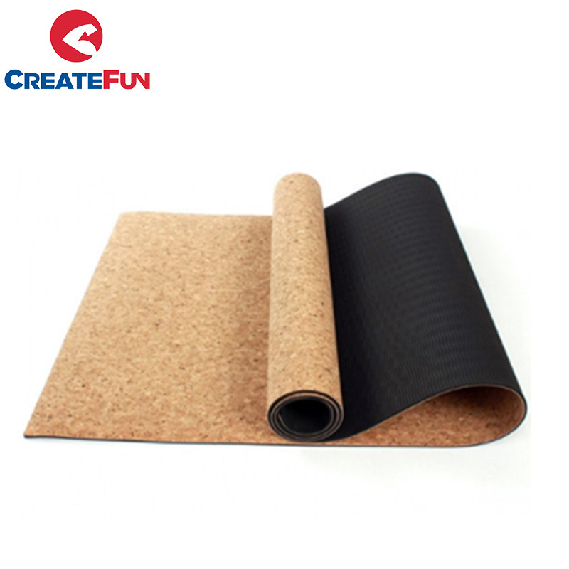 CreateFun high quality ECO-friendly natural cork yoga mat