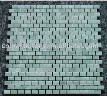 Outside Door Decoration Ming Green Subway Natural Marble Mosaic Tile