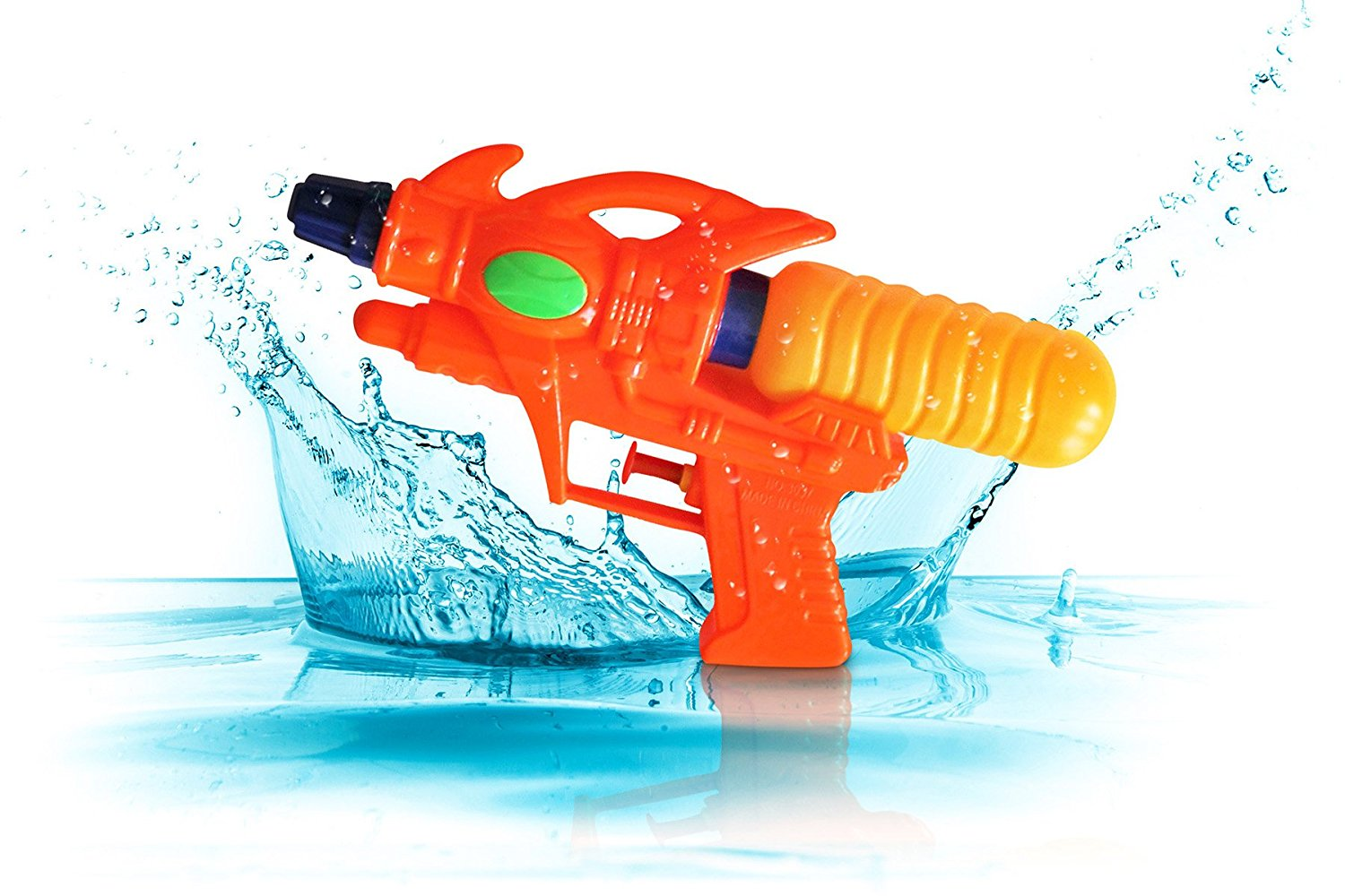 Water Shooter Guns (6 Pack) for Kids and Children - Fun Toy Pistol Sprayer for Summer Outdoor Sports Activity Games | Assorted Colors