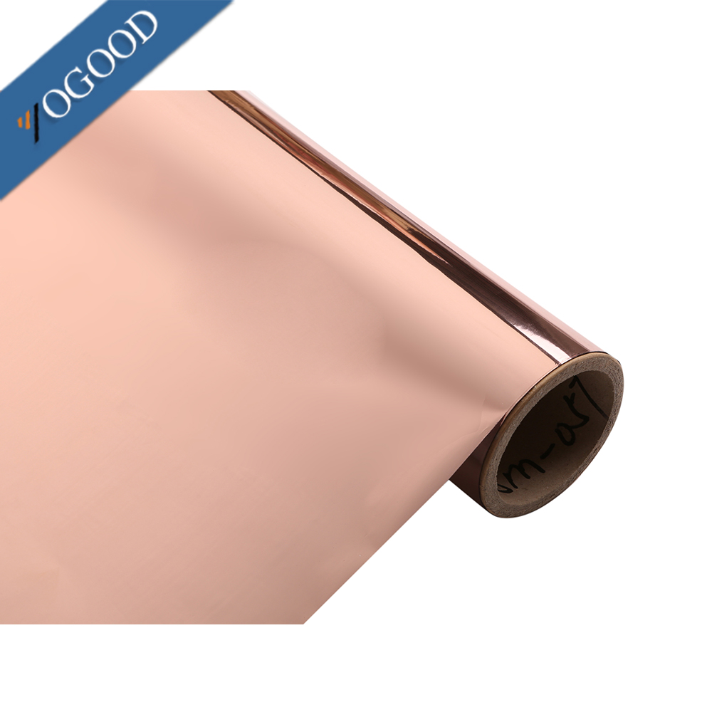 China manufacturer price custom colors high gloss pvc/pet rose gold hot stamping foil