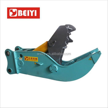 China excavator hydraulic pulverizer manufacturer wuxi beiyi demolition shears equipment mechanical concrete pulverizer for sale