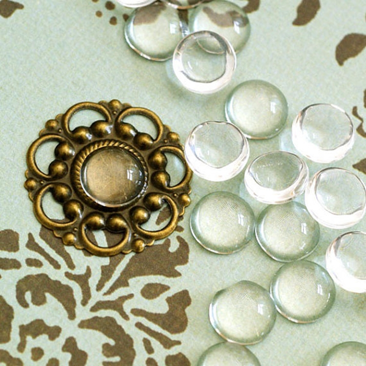 Color: Antique silver/ Antique bronze ,etc as your choice // 20mm Round Bezel Cup Cabochon Mountings