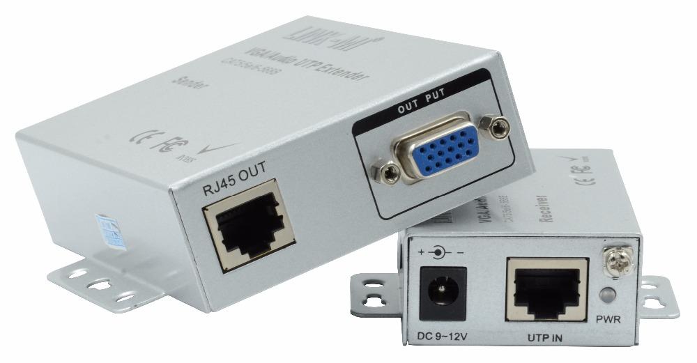 100m Vga Extender Transmitter And Receiver Rj45 Utp Vga
