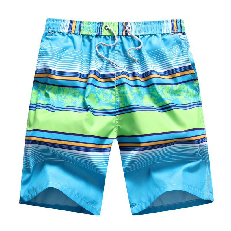 FASUWAVE Mens Swim Trunks Hares Green Quick Dry Beach Board Shorts with Mesh Lining