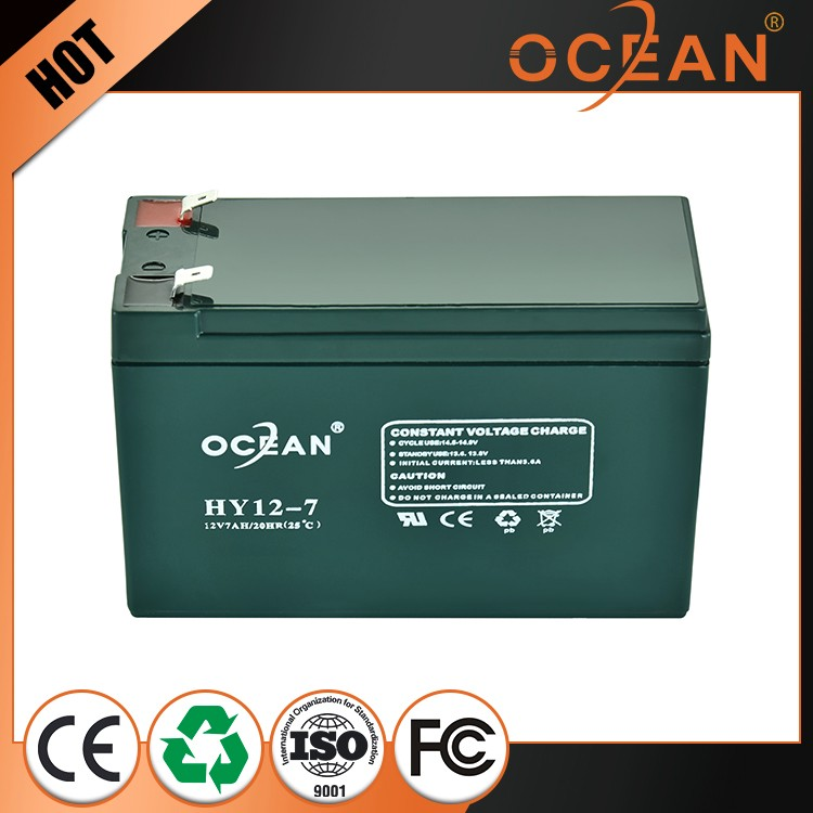 Factory supply durable in use cheap 12V 7ah sealed lead acid battery