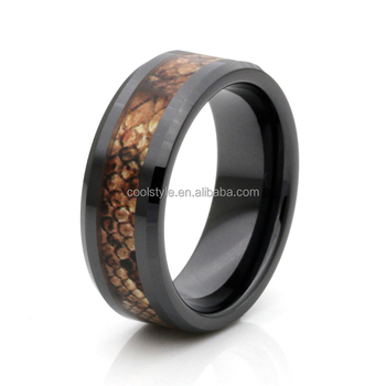 41c2766a350147 New design So cool men's jewelry rings guy gift Snake camo inlay cubic  zirconia ceramic wedding