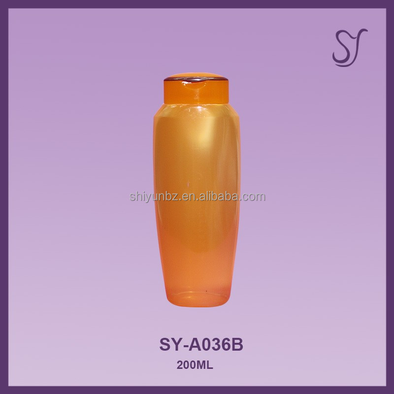 200/250ml HDPE refillable squeeze shampoo bottle packaging plastic shampoo bottle with flip top cap A036B
