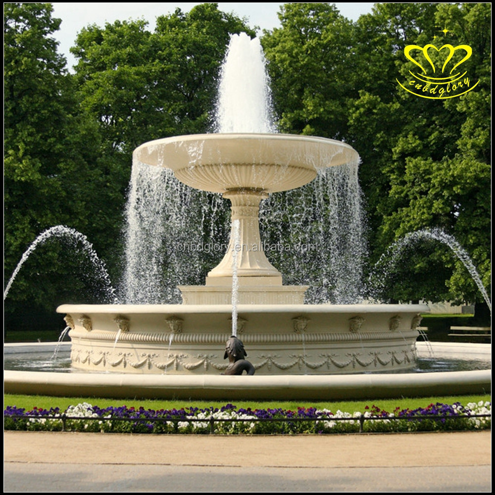 Superieur Large Outdoor Fountain European Character Sculpture White Marble Water  Fountain