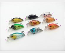 New Sea Bass Fishing Lures CrankBait Crank Isca Artificial Isca De <span class=keywords><strong>Pesca</strong></span> Dura 4.5 cm/4g