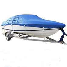 Hoge Kwaliteit OEM service Outdoor Waterdichte 210D Oxford <span class=keywords><strong>Stof</strong></span> Trailerable Waterdichte Vissen Ski Runabout Protector boot cover