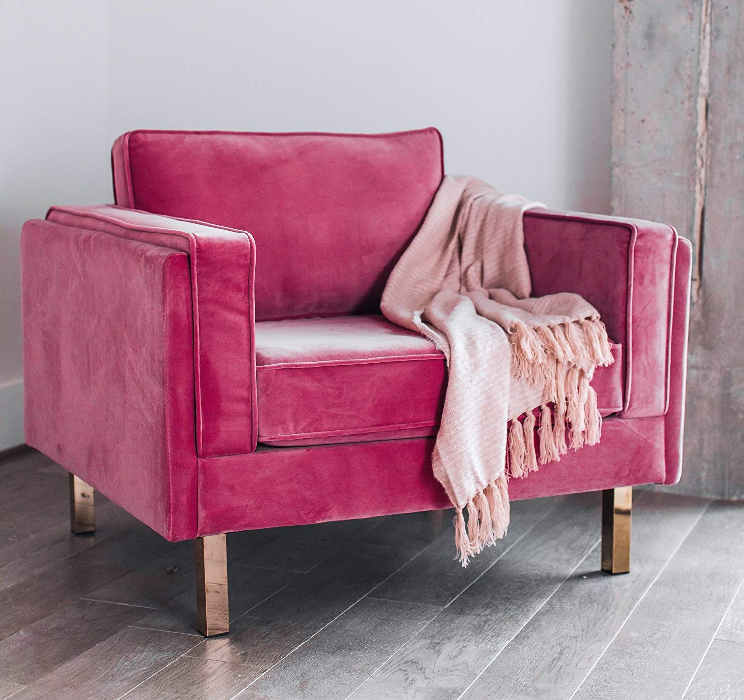 Buy Edloe Finch Lovette Pink Accent Chair Modern Velvet Accent Chair For Living Room In Cheap Price On Alibaba Com