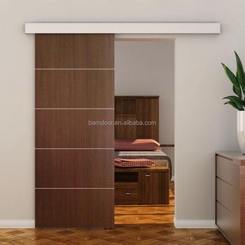 Meijia Simple Flush Doors With Aluminum Sliding Door Hardware Aluminum  Track Cover