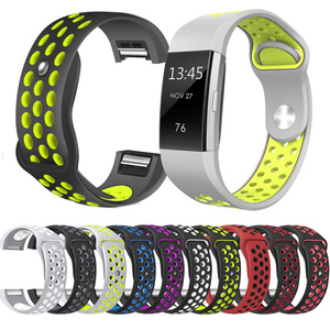 High Quality Sport Silicone Wristband for Fitbit charge 2 Replacement Watch Band