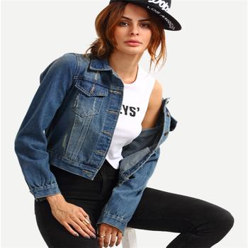 2e41293ef83d Women Jean Jacket Dual Flap Stone Wash Blue Denim Jacket - Buy ...