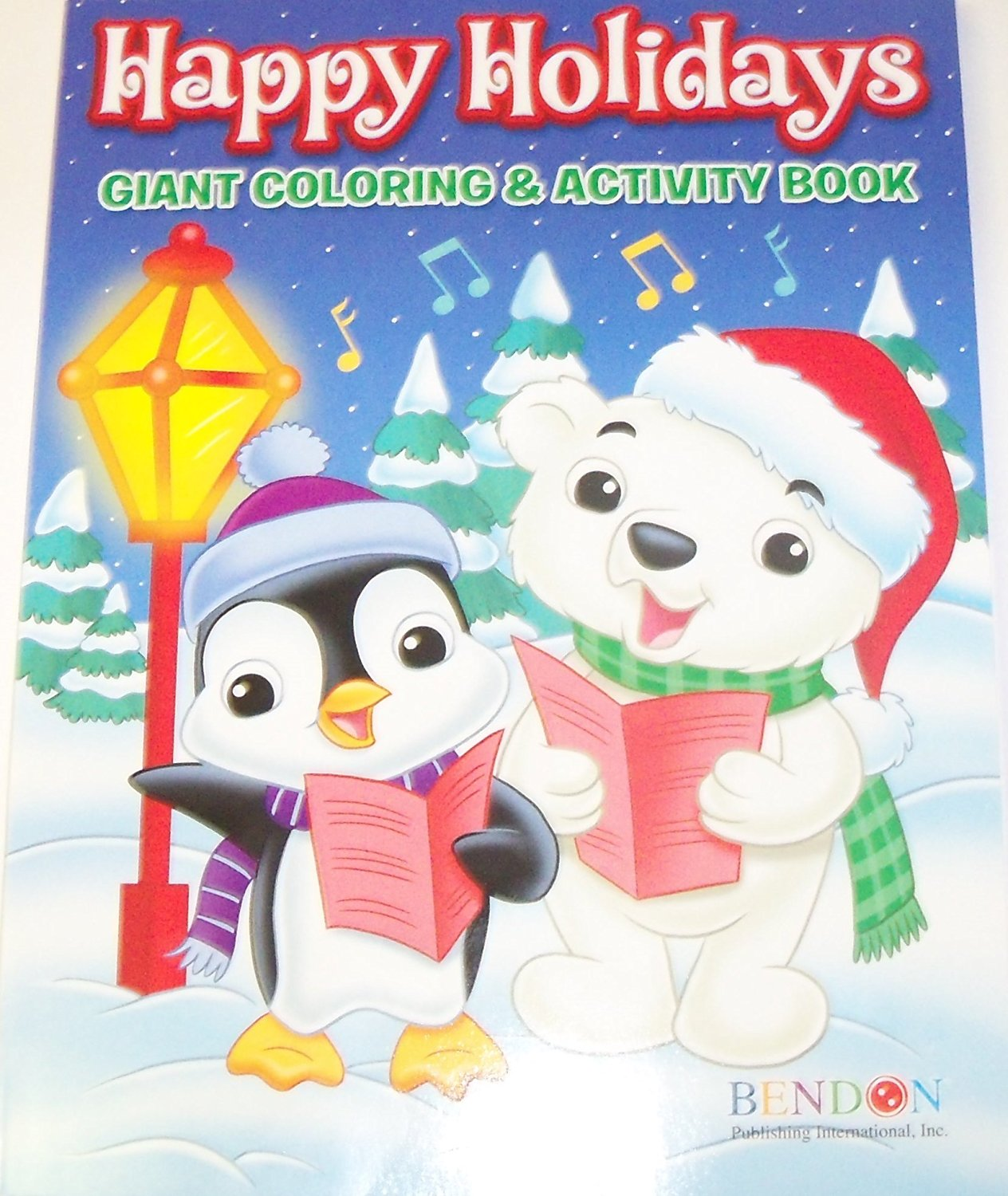Happy Holidays 160 Page Giant Coloring and Activity Book ~ Christmas Edition (Animals Caroling)