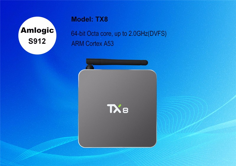 ott tv box tx8 4K s912 android 6.0 marshmallow tv box 2g 32g Octa core  KD player 17.0 with flash memory