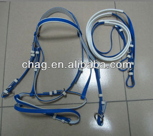Favorites Compare Fancy PVC horse bridles and rein with rustproof alloy buckles