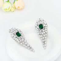Wholesale New Designs Fashion Long Cubic Zirconia Earrings