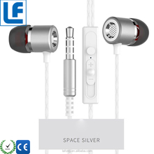 Metal subwoofer earphone 3.5 mm wired headset microphone phone headset