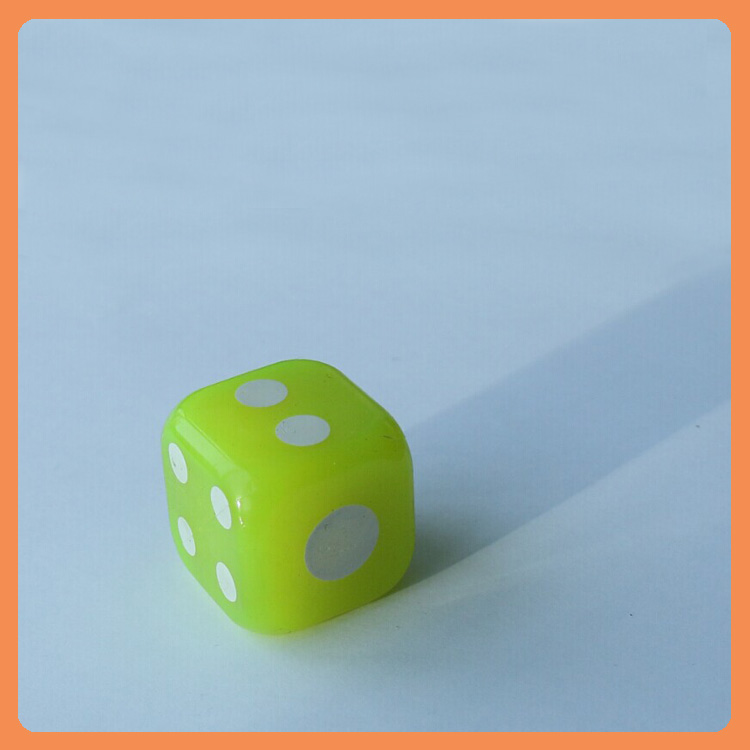 Wholesale Colorful good price led light Rubber Dice Shaped Soft Bouncy Ball