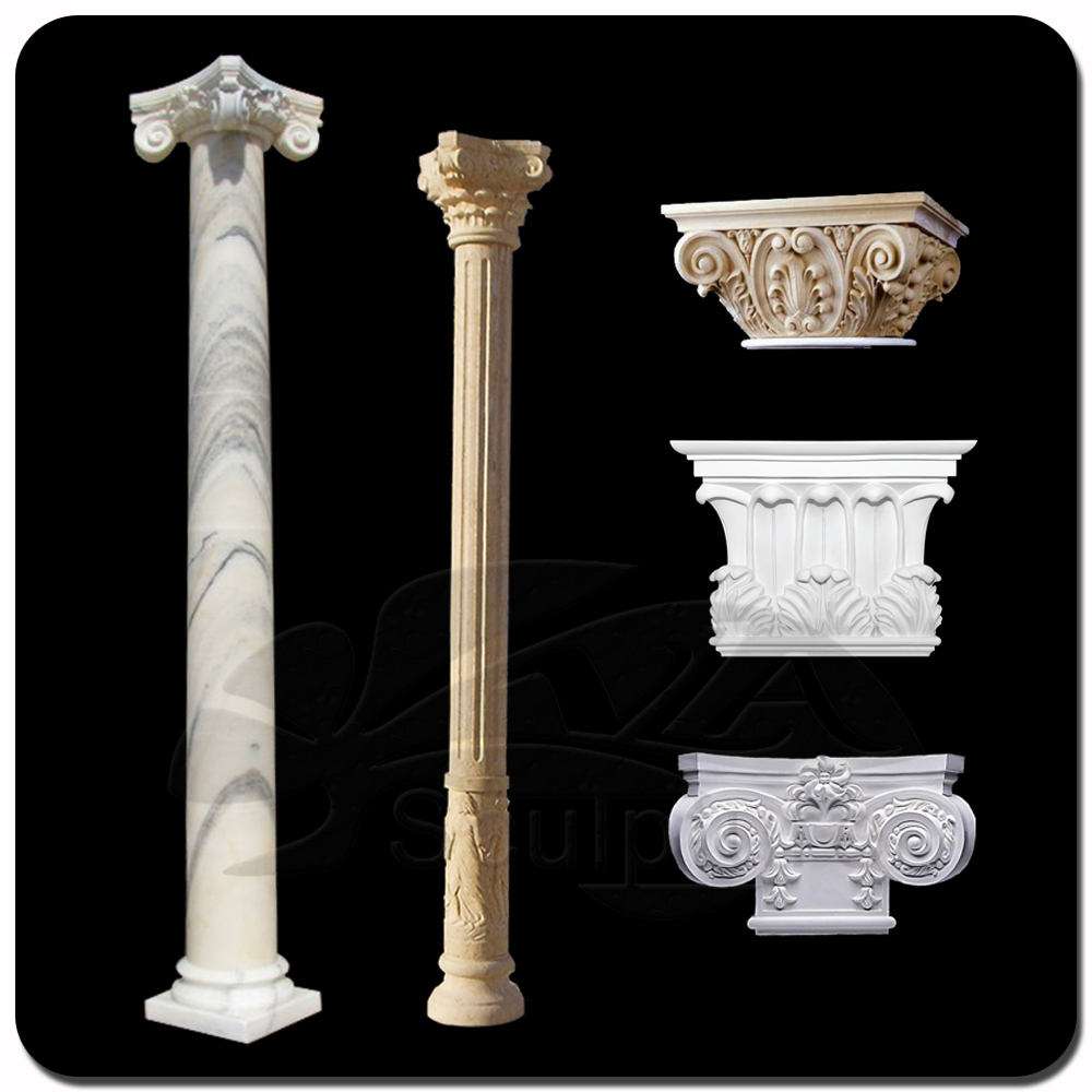 Decorative pillars columns design decoration for Decorative columns