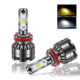 Auto Parts Car Headlight D2 H1 H3 H7 H8 H11 9005 9006 H4 LED Mini Size Dual Color Led Headlight
