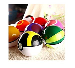 Mingyaa 8 Pieces Different Style Ball +8 Pieces Figures Plastic Super Anime Figures Balls for Pokemon Kids Toys Balls(Ball and Pokemon Radom)