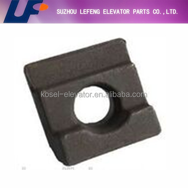 Elevator rail clip for hollow rail|Guide rail clip|Elevator guide rail