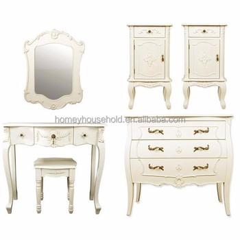 . Cream Dressing Console Table Set Makeup Desk Without Mirror Bedroom  Furniture   Buy High Quality Bedroom Furniture Wooden Dressing Console